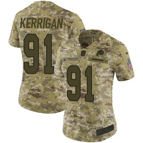 5x nfl jerseys cheap Women\'s Washington Redskins #91 Ryan ...