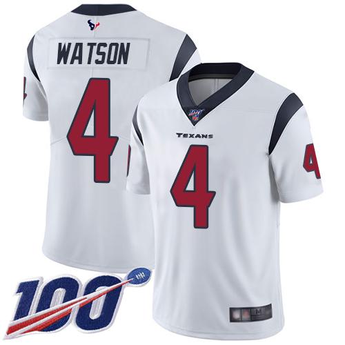 cheap 4x jerseys Youth Houston Texans #4 Deshaun Watson White ...