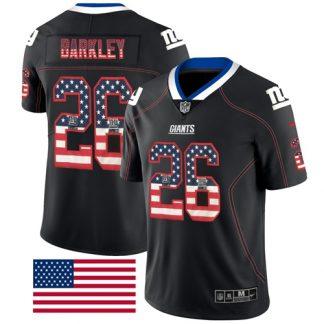cheap nfl jerseys canada New York Giants #26 Saquon Barkley Black ...